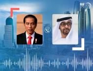 Mohamed bin Zayed, President of Indonesia review global fight aga ..