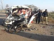 Six of family die as van overturned near Khairpur Tamewali