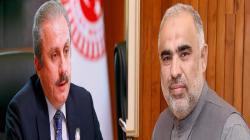 رئیس البرلمان الباکستاني أسد قیصر یتلقی اتصالا ھاتفیا من ..
