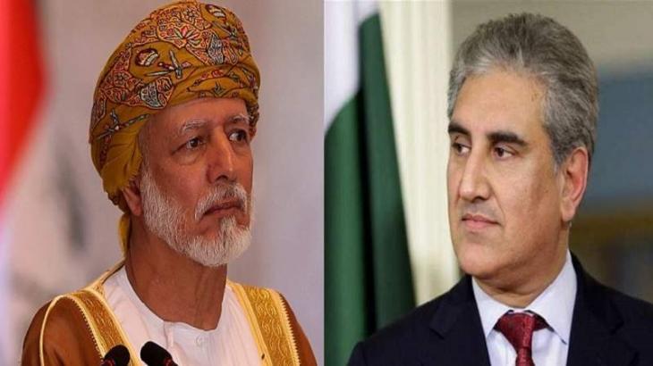 وزیر الخارجیة الباکستاني شاہ محمودقریشي و نظیرہ العماني یبحثان مواجھة فیروس کورونا