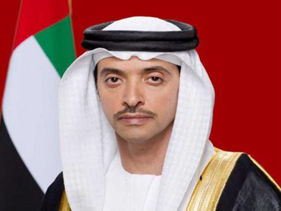 هزاع بن زايد يهنئ رئيس الدولة ونائبه ومحمد بن زايد والحكام بعيد الفطر المبارك