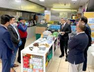 High Commissioner visits Open Kitchen set up by Muslim Hands;  an ..