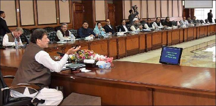 Prime Minister Imran Khan chairs federal cabinet meeting