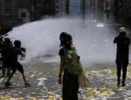 Hong Kong Police Use Water Canons to Disperse Protests Against Ne ..