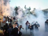 Ten police injured in violent Belgrade protests