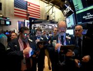 US stocks mostly up but volatile amid COVID-19 worries