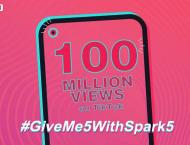 TECNO's #GiveMe5withSpark5 Challenge Breaks A Record of 100M Vi ..