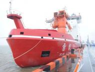 China's polar icebreaker sets sail for Arctic