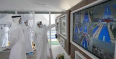 Khalid bin Mohamed bin Zayed visits SEHA's drive-through testing facility at Abu Dhabi Corniche