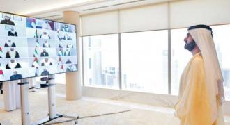 UAE Cabinet ministers take their oath before Mohammed bin Rashid