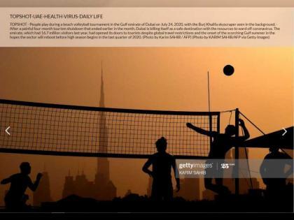 """""""أسبوع دبي للرياضات الشاطئية"""" تتصدر أفضل صور في العالم"""
