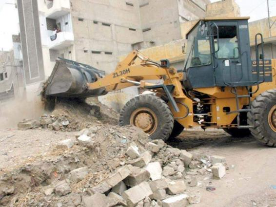 Anti-encroachment operation in vegetable market, six held
