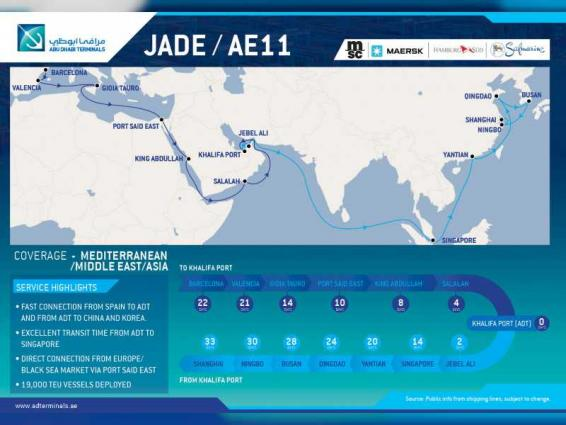 Abu Dhabi Terminals improves global connectivity with the MSC and 2M 'JADE' service