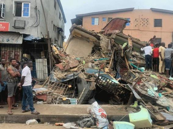 Two dead, eight rescued in Lagos building collapse