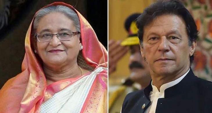 رئیس وزراء باکستان یبحث مع نظیرتہ البنغلادیشیة العلات الثنائیة بین البلدین