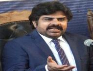 Nasir Shah handed over cheaque of Rs5 million to Sukkur Press Clu ..