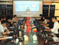 Pakistani businessmen attend online cashmere trade fair organized ..