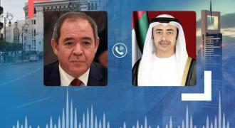 Abdullah bin Zayed, Algerian FM exchange Eid Al-Adha greetings