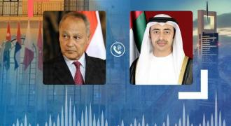 Abdullah bin Zayed, Arab League Chief review latest Arab developments