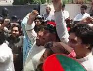 PTI workers protest against ANP MPA Khushdil Khan