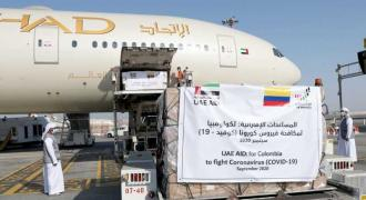 UAE sends fifth COVID-19 medical aid plane to Colombia
