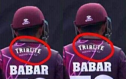 Alcohol brand's logo to be removed from Babar Azam's Somerset shirt