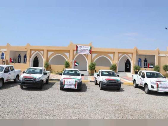 ERC presents vehicles to support service institutions in Hadramaut, Yemen