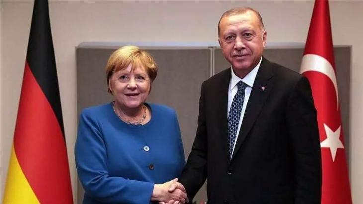 Erdogan, Merkel Discuss Situation in Eastern Mediterranean - Turkish Presidency