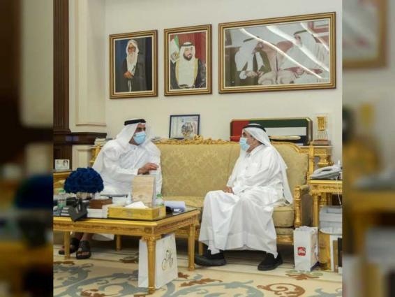 Hamdan bin Rashid receives Saif bin Zayed