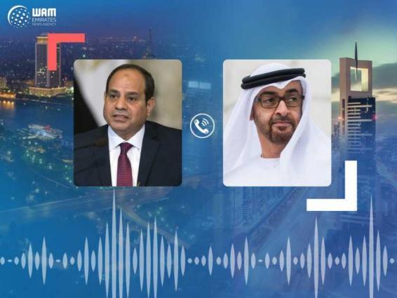 Mohamed bin Zayed, Egyptian President review bilateral relations