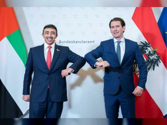 Austrian Chancellor, Abdullah bin Zayed review regional, international developments