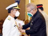 President confers Nishan-e-Imtiaz upon Naval Chief Amjad Khan Nia ..