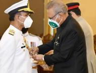 President confers Nishan-e-Imtiaz (mly) on Naval Chief