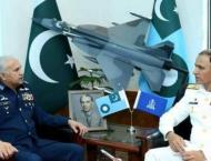 Newly appointed naval chief pays maiden call on air chief