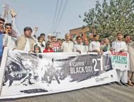 Black day against India's illegal occupation of Kashmir observed  ..