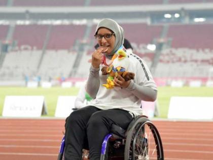 """البطلة الأولمبية سارة السناني لـ"""" وام"""": الإمارات بدعم قادتها وهمة أبنائها لا تعرف المستحيل"""