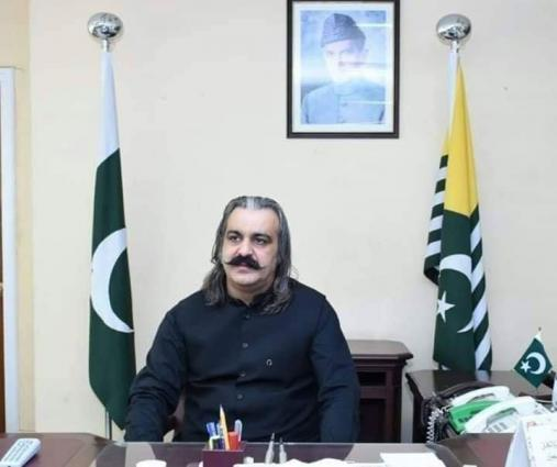 Ali Amin Khan Gandapur exhorts world power to take practical steps for peaceful resolution of IIOJK