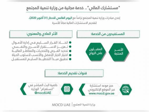 """وزارة تنمية المجتمع تدعم استقرار الأسرة اقتصاديا بخدمة """"مستشارك المالي"""""""