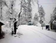 Second spell of snowfall at nathiagali started