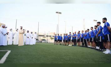 راشد بن حميد يلتقي حكام كرة القدم ومنتخب ..