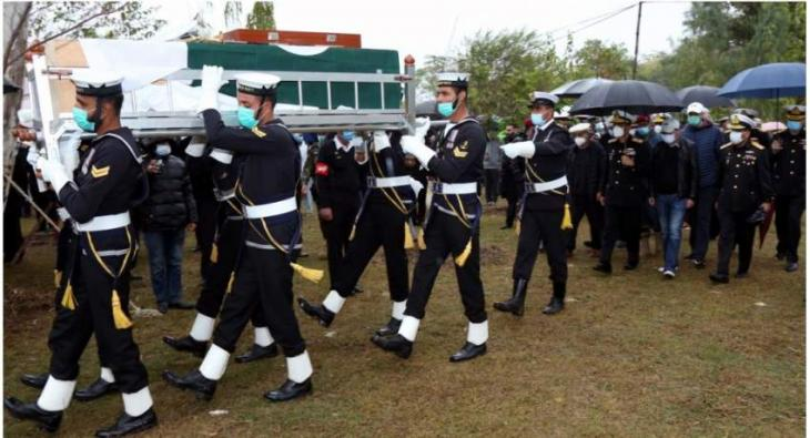 Former Naval Chief Admiral Fasih Bokhari Laid To Rest In Islamabad