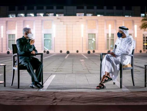 Abdullah bin Zayed, External Affairs Minister of India discuss advancing cooperation