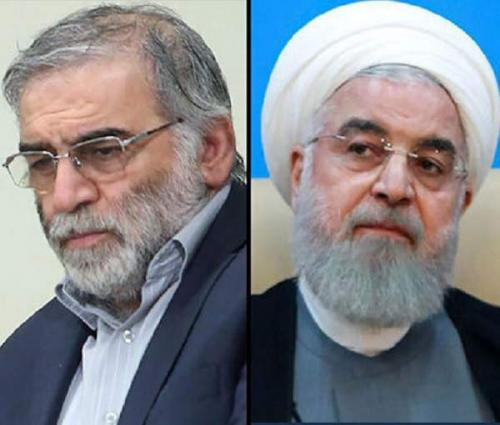 Iran's Hassan Rouhani accuses 'mercenary' Israel of scientist assassination