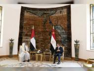 Mohamed bin Zayed, Egyptian President discuss ties, regional issu ..