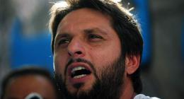 Shahid Afridi turns aggressive over misbehavior of Afghan bowler