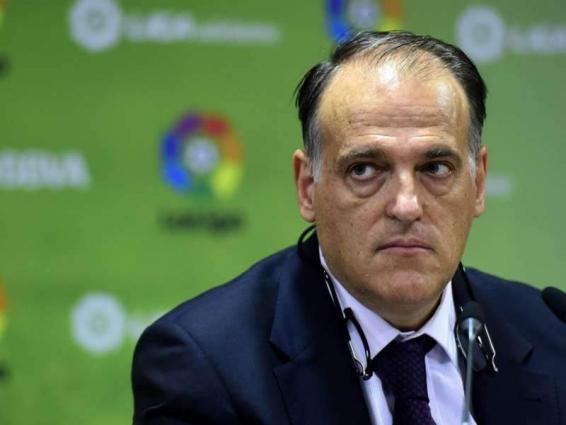 Liga president Tebas hopes for fans' return in January
