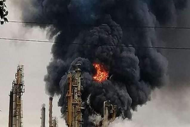 Explosion starts fire in South African oil refinery