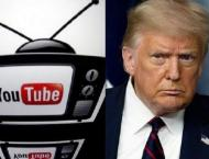 YouTube suspends Trump channel for week over violence fears
