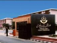 AIOU continues its scholarship schemes