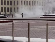 Belarus man hospitalised after setting himself on fire